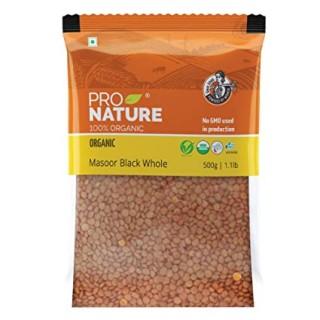 Pro nature 100% Organic Masoor Black whole-500gm